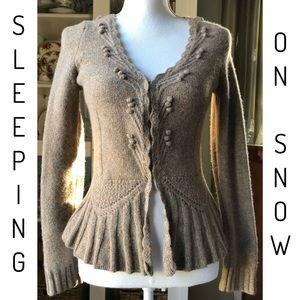 Anthropologie Sleeping On Snow Wool Cardigan Sz M